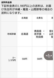 横スクロール参考:配送方法 楽天市場:産経ネットショップ